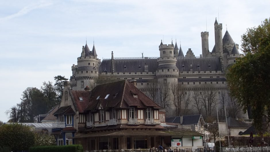 The view of a fairy-tale castle
