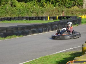 A boy in a go-kart at Quad No Limit