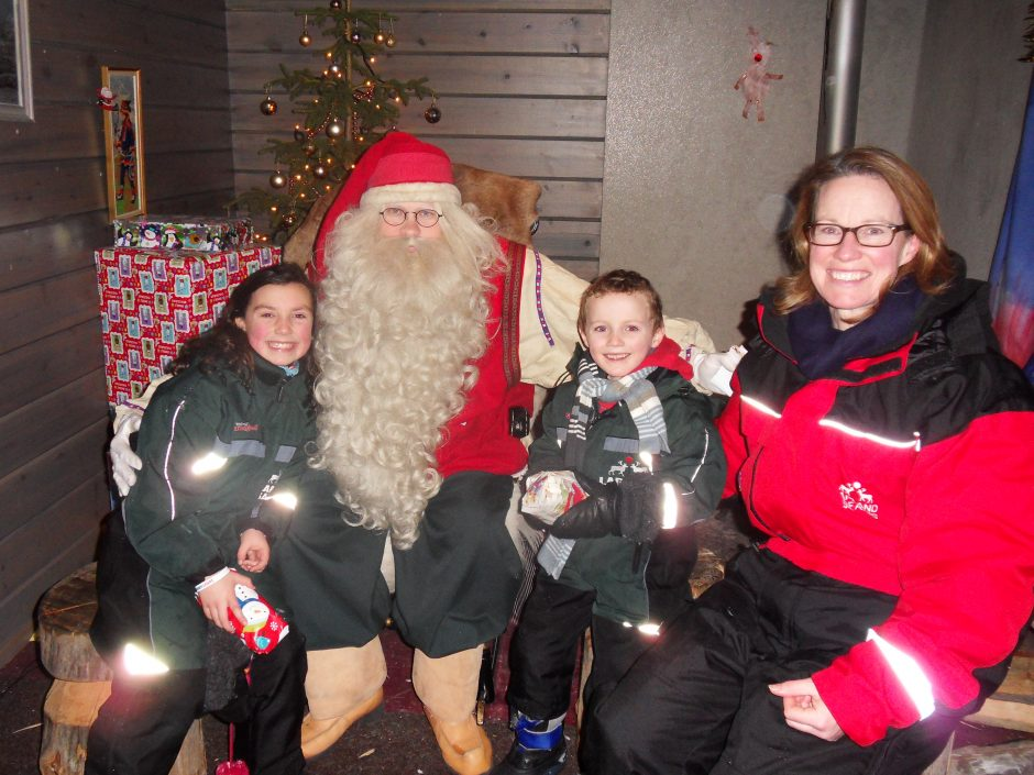 Blogger Fiona and two of her children meet the real Santa on a dream family holiday to Lapland